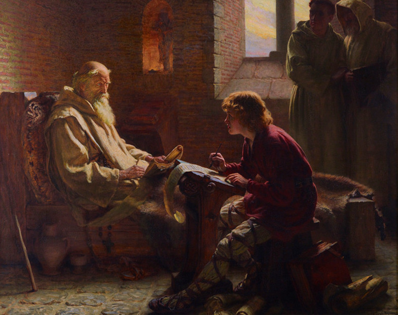 The Venerable Bede translating the Gospel of John on his deathbed by James Doyle Penrose