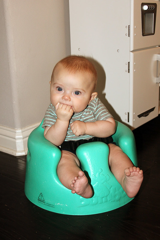 Finn in the bumbo