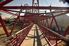 truss bridge, iron, skyway,