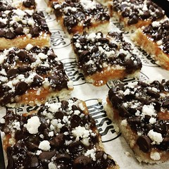 Freshly baked Boss Bars are ready to go! We open at 10:30am! #bosspizzaco
