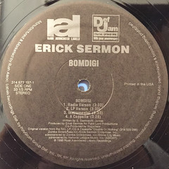 ERICK SERMON:BOMDIGI(LABEL SIDE-A)