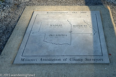 Kansas-Missouri-Oklahoma Tri-state Border marker (new)