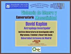 Conversatorio Violencia de Género y Masculinidad #Mérida ULA martes 29/09/2015