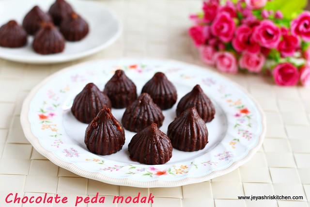 Chocolate peda- modak