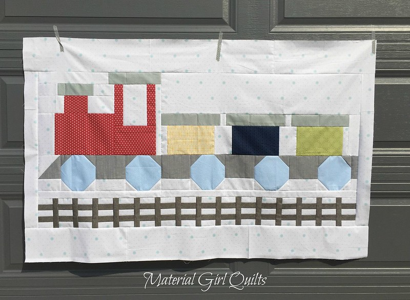 All Aboard quilt top