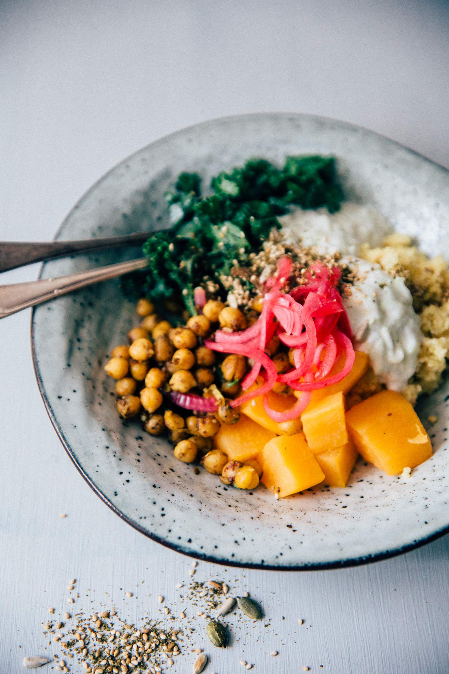 Hippie Bowl with Spicy Chickpea, Millet & Sweet Potato | Cashew Kitchen