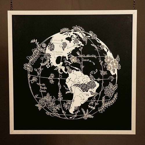 Cut Paper Map by Vanshika Agarwala