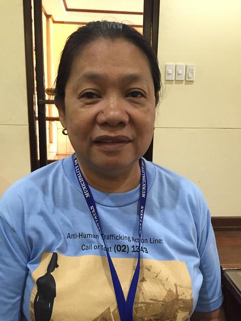DSWD employee Magdalena K. Derecho