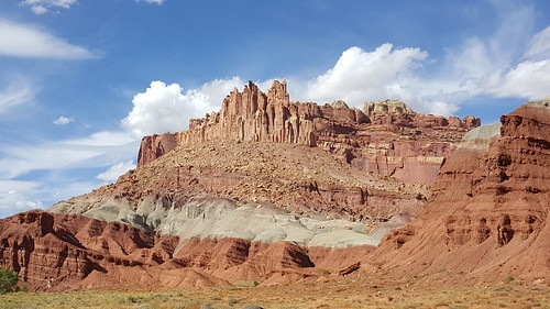 The Castle rock formation in Capitol Reef NP