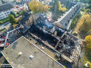 Großbrand Domänenkellerei Eltville 26.10.15