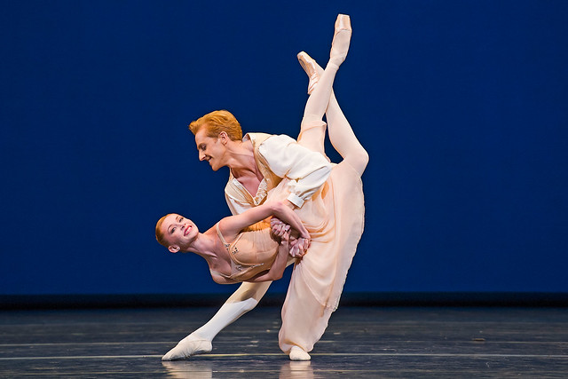 Iana Salenko and Steven McRae in Tchaikovsky pas de deux © 2015 ROH. Photo by Tristram Kenton