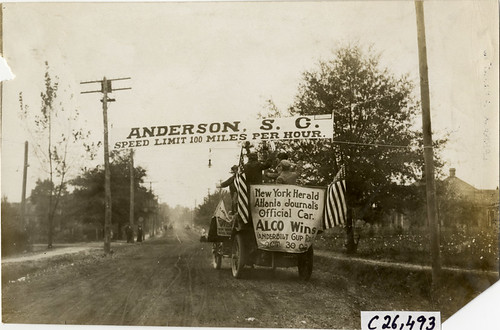 1909 Anderson SC Good Roads Banner