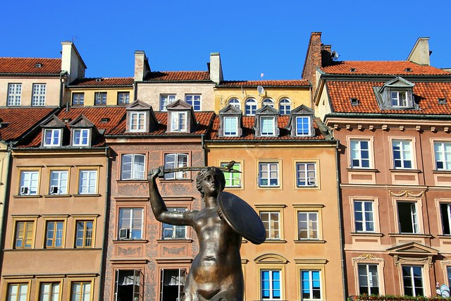 Warsaw mermaid, Poland