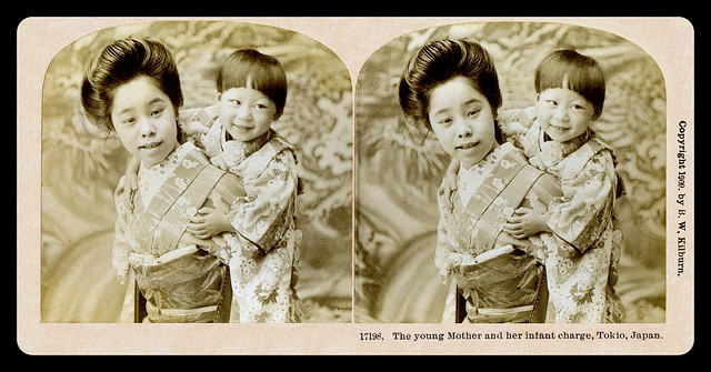 A YOUNG MOTHER of OLD JAPAN in FULL 3-D
