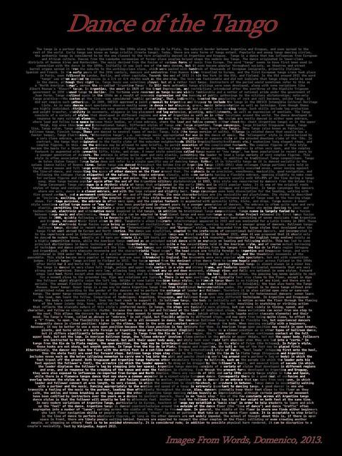 Dance of the Tango 30 X 40 inch print