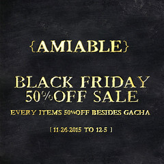 {amiable}BLACK FRIDAY 50%OFF SALE & New GIFT!!!!!!