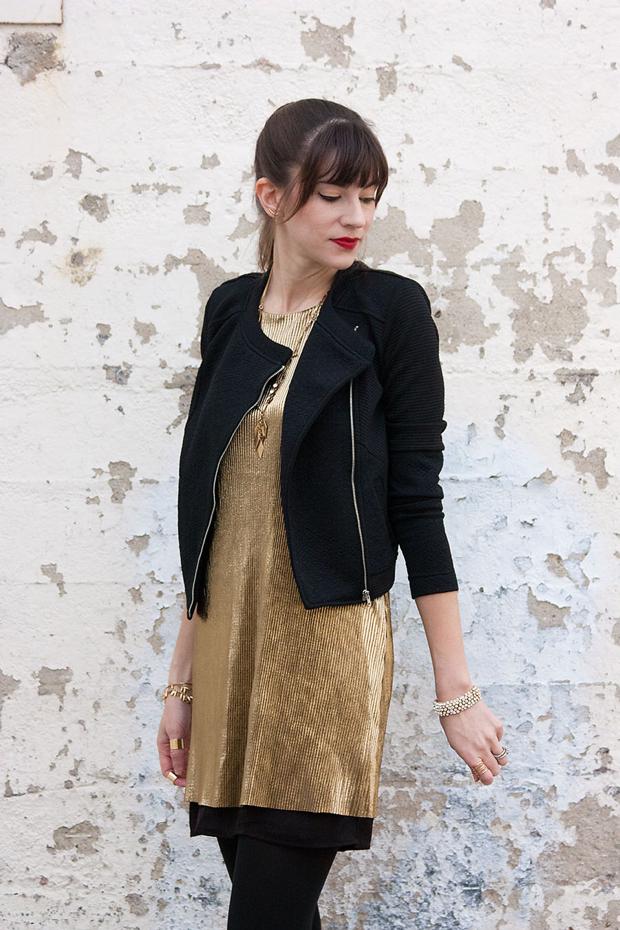 Bar III dress, Gold Shift Dress, Bar 3 Jacket