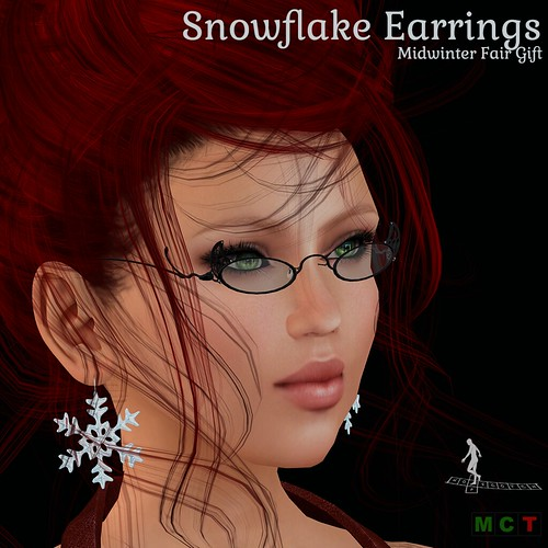 Snowflake Earrings Gift