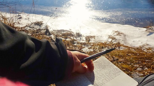 Journaling by the river
