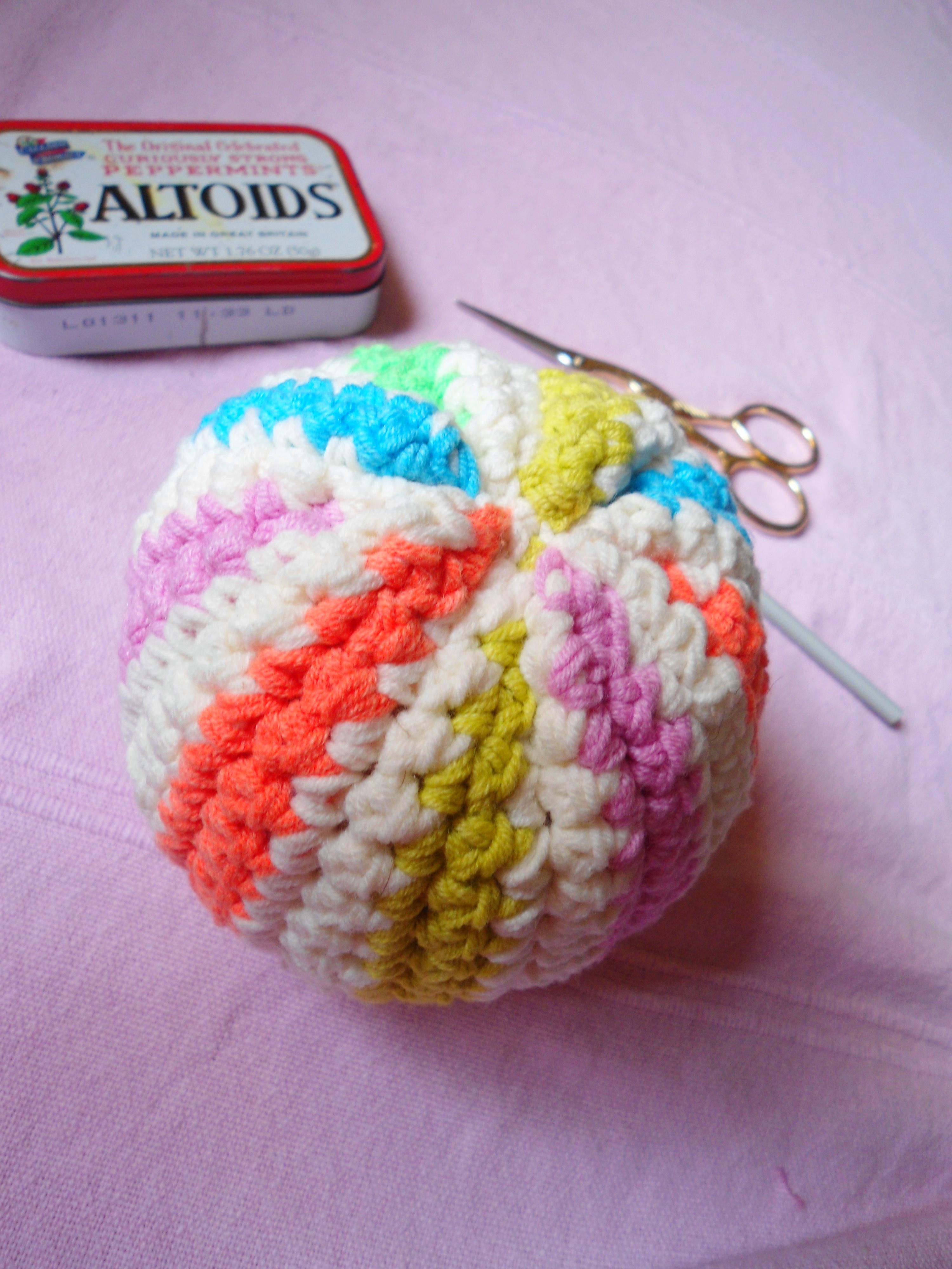 crochet ball tutorial vintage peony