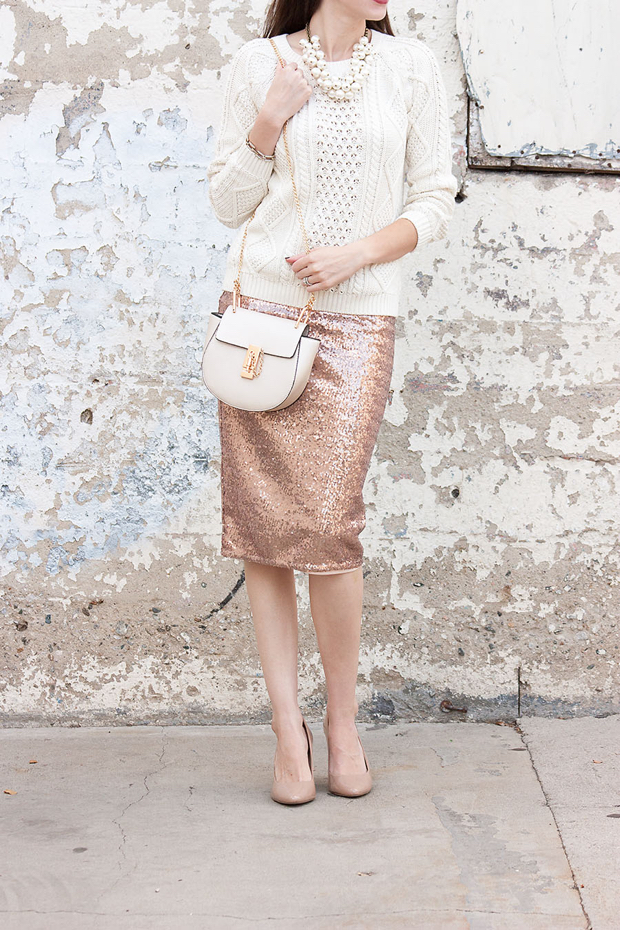 Flashback Fashion Friday #23   4 Ways to Wear a Sequin Skirt ...