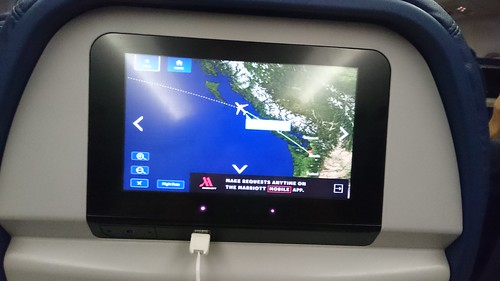 Seat monitor of Delta flight