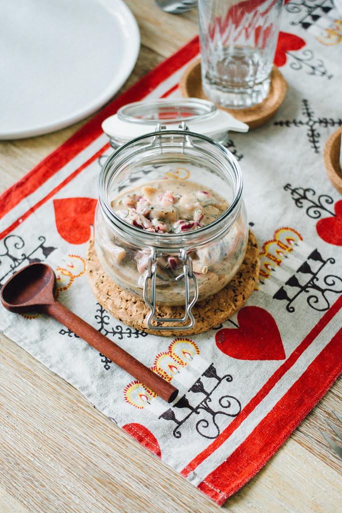 Recept: Vegansk sill på aubergine | Matildigt