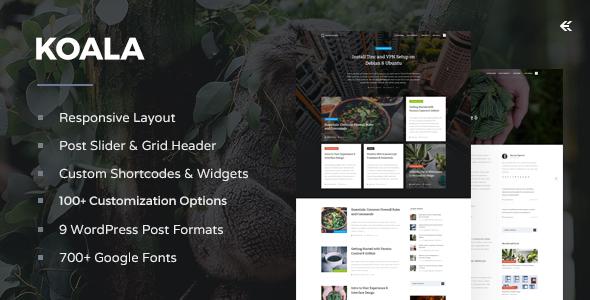 Koala v2.3.0 – Responsive WordPress Blog Theme