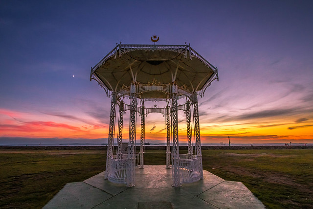 Sunset - Southsea bandstand
