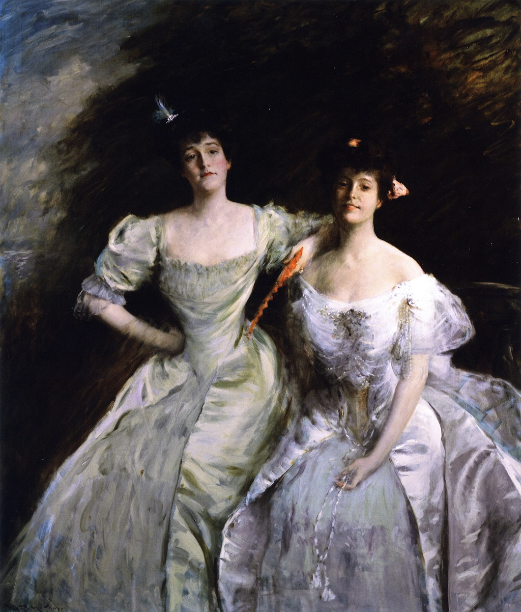 The Sisters (also known as The Sisters - Mrs. Sullivan and Mrs. Oskar LIvingston; The Sisters - Mrs. Oskar Livingston and Mrs. James Francis Sullivan) by William Merritt Chase, 1905