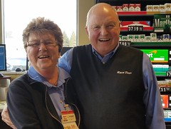 Lynne Wiese with Kwik Trip Co-founder, President and CEO Don Zietlow