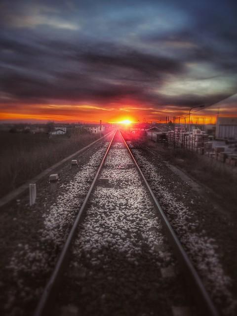 Railroad Sunset 2