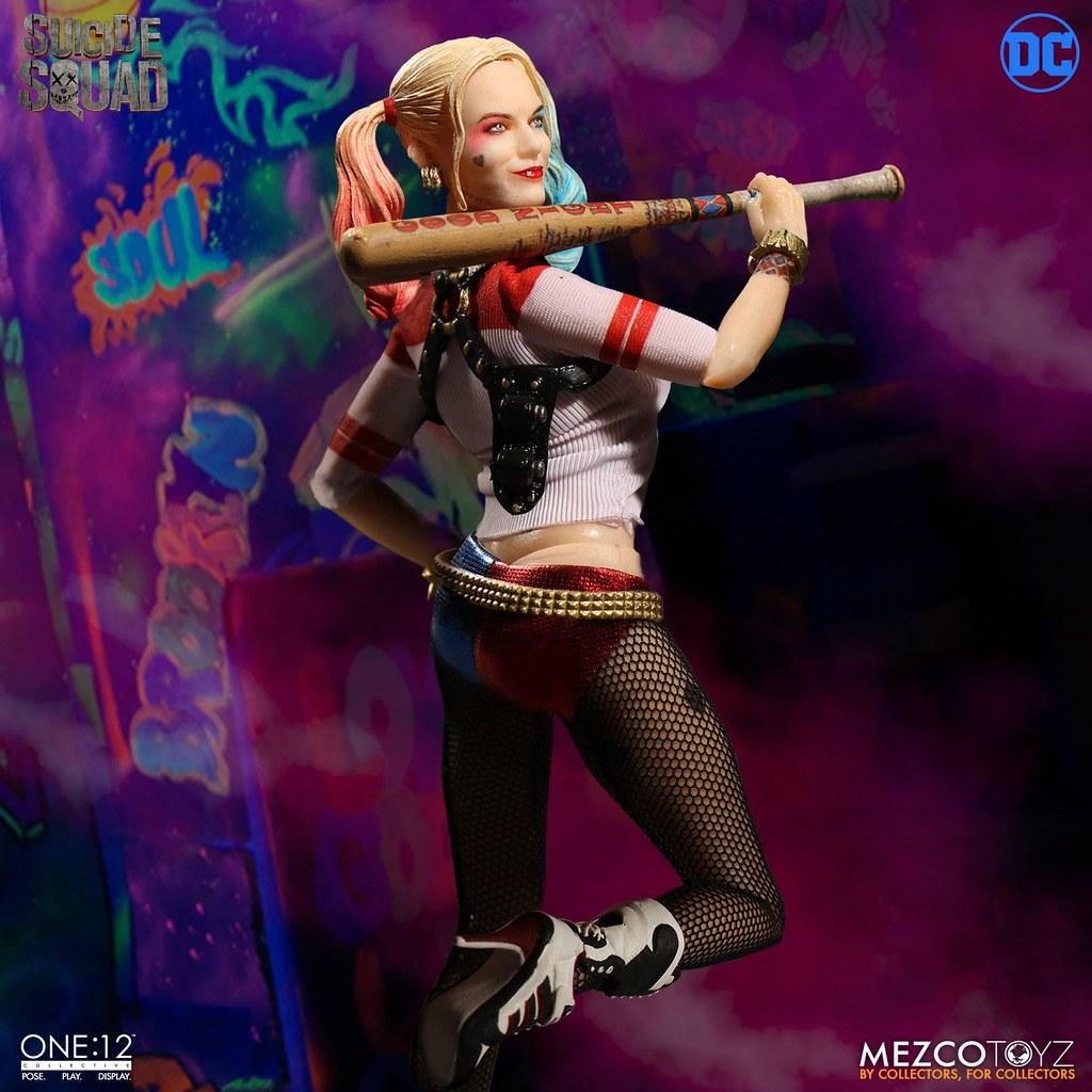 MEZCO – ONE:12 COLLECTIVE 系列【小丑女哈莉.奎茵】自殺突擊隊 Harley Quinn 1/12 比例人偶作品