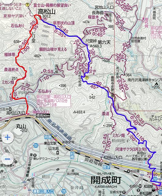 高松山地図