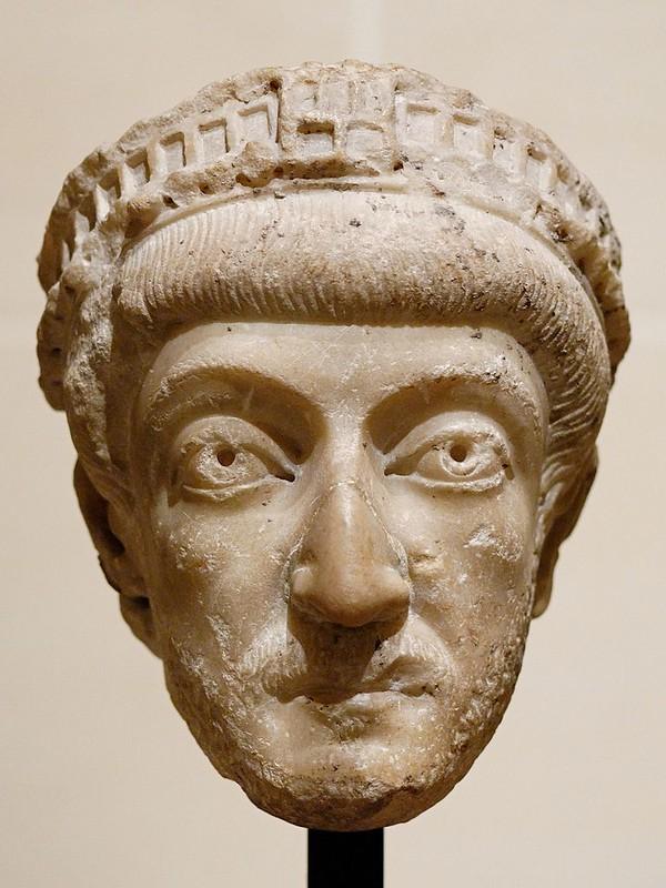Bust of Byzantine Empreror Theodosius II