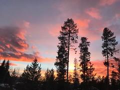 I tried to take a day off from photography. I failed. Because sunsets.   #sunset #summitcounty #keystone #colorado #springbreak