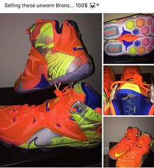 Selling these unworn Lebrons for 100$. Size 13. Lmk :heart::panda_face::registered: #lebrons #basketball #sneakerhead #illest #igdaiky #streetfashion #nike #ThankTheMostHigh #SaveThePandas