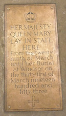 Photo of Mary of Teck bronze plaque