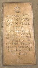 Photo of Mary of Teck bronze plaque