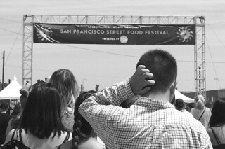 SF Street Food Festival - Entrance bw by roland luistro, on Flickr