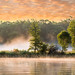 """Foggy River Sunrise at Boy Lake"" by Patti Deters"