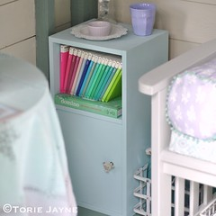 Upcycled bedisde cabinet