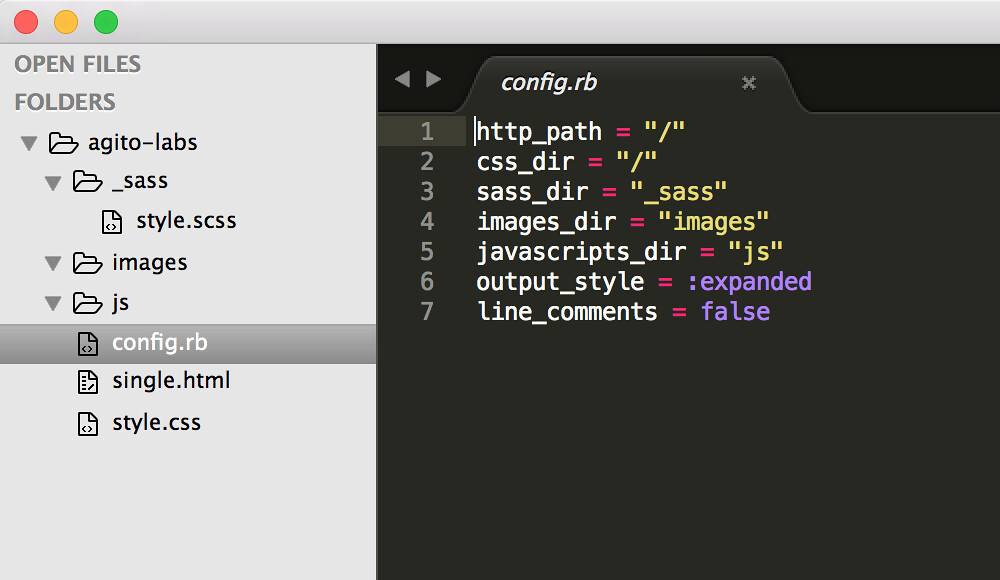 Sublime Text3 + Sass & Compass