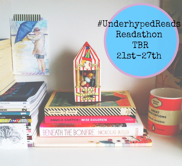 underhypedreads readathon tbr pile uk book blog vivatramp