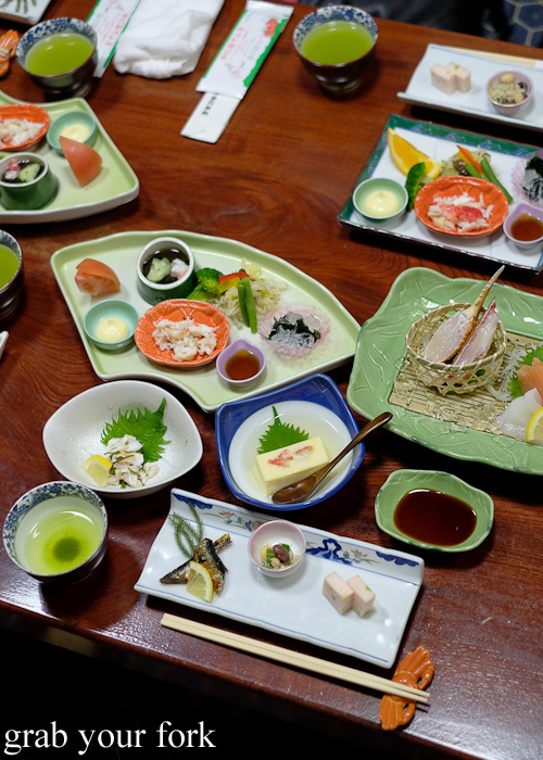 Crab banquet at Kani Honke in Sapporo, Hokkaido