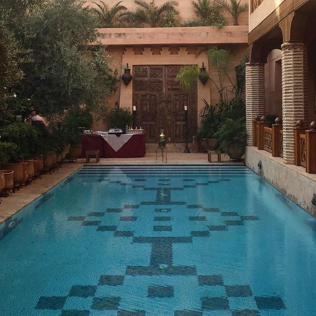 The pool at La Maison Arabe