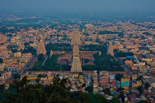View of Tiruvannamalai with Annamalaiyar temple towers! Explore #148 on 3.9.2015