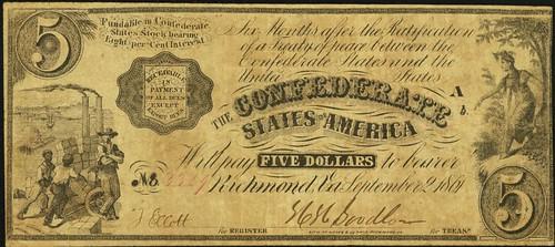 Confederate Indian Princess note