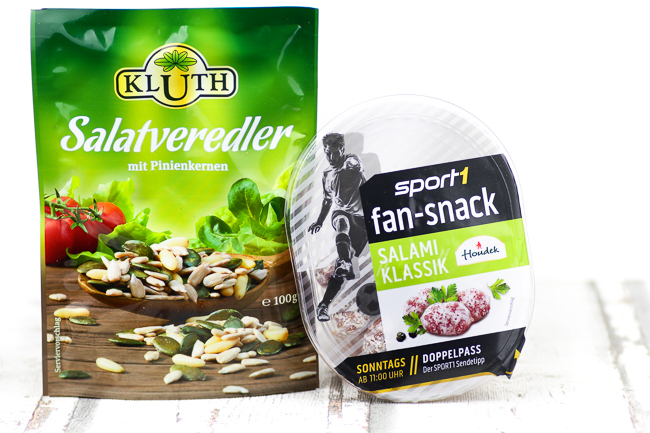 Degustabox August, Kluth Salatveredler, Houdek Sport1 Fan-Snack Klassik