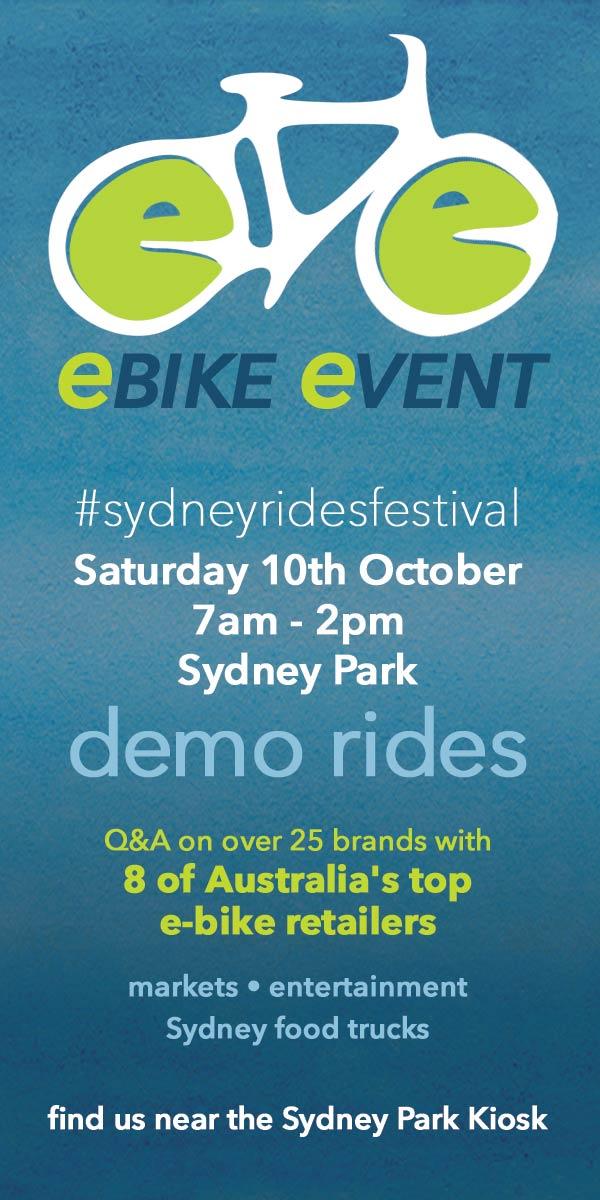 Sydney Rides Festival - Electric Bike Event